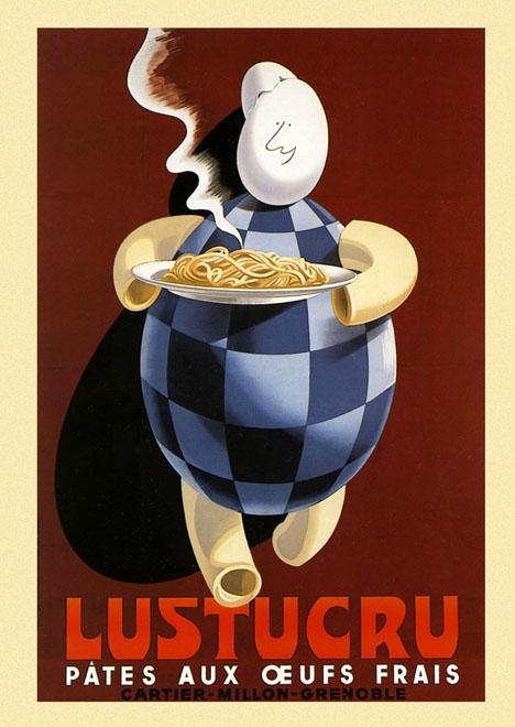 Eggs Spaghetti Pasta Plate Italian Italy Food Vintage ...