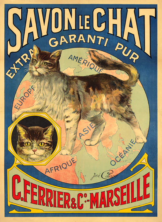 POSTER BLACK CATS WHITE CAT IVORY SOAP PURE AMERICAN  VINTAGE REPRO FREE S//H