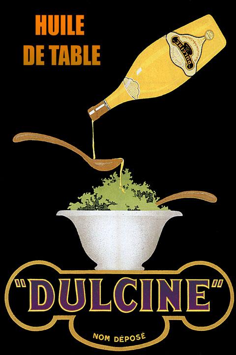 Olive Oil Salad Dulcine Italian Food Italy Italia Vintage ...